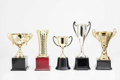 Trophy Cup on white background stock photo