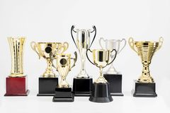 Trophy Cup on white background stock images