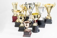 Trophy Cup on white background. Variety of Trophy Cup on white background stock photos