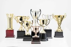 Trophy Cup on white background. Variety of Trophy Cup on white background royalty free stock photos