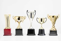 Trophy Cup on white background. Variety of Trophy Cup on white background royalty free stock photo