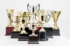 Trophy Cup on white background. Variety of Trophy Cup on white background stock photo
