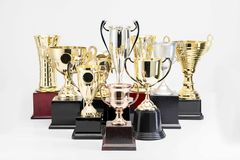 Trophy Cup on white background. Variety of Trophy Cup on white background royalty free stock photography
