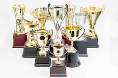 Trophy Cup on white background. Variety of Trophy Cup on white background stock photography
