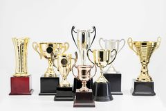 Trophy Cup on white background. Variety of Trophy Cup on white background royalty free stock image