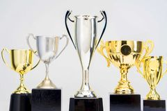Trophy Cup on white background royalty free stock photos