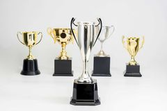 Trophy Cup on white background stock image