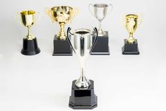 Trophy Cup on white background. Variety of Trophy Cup on white background stock images