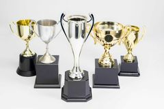 Trophy Cup on white background royalty free stock photo