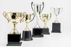 Trophy Cup on white background. Arrangement of Trophy Cup on white background royalty free stock photography