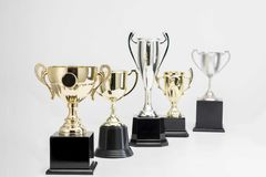 Trophy Cup on white background. Arrangement of Trophy Cup on white background stock images