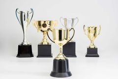 Trophy Cup on white background. Arrangement of Trophy Cup on white background stock photo