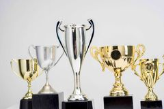 Trophy Cup on white background. Arrangement of Trophy Cup on white background stock photos