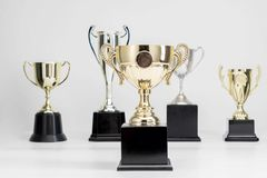 Trophy Cup on white background. Arrangement of Trophy Cup on white background stock photography