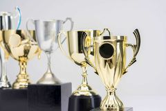 Trophy Cup on white background. Close-up of Trophy Cup on white background royalty free stock photos