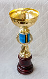 Trophy cup for winner. Trophy cup for a winner in a competition Stock Photo