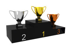 Trophy cups Stock Photos