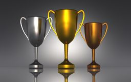 Trophy cups Royalty Free Stock Photos