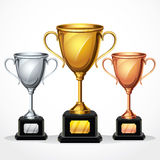 Trophy cups.  illustration Stock Images