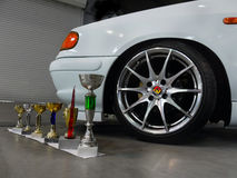 Trophy Cups Wheel Disc Sign Car Auto Stock Photo