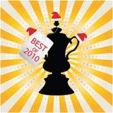 Trophy design. Black trophy design - best of 2010 Stock Photography