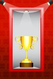 Trophy in Display Stock Photo