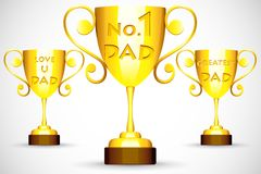 Trophy with Father's Day message Royalty Free Stock Images