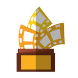 Trophy film awards shadow. Vector illustration eps 10 Royalty Free Stock Image