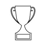 Trophy first place isolated icon Stock Photos