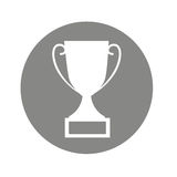 Trophy first place isolated icon Royalty Free Stock Photos