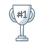 Trophy first place line icon. Illustration design Royalty Free Stock Images