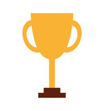 Trophy first place line icon. Illustration design Royalty Free Stock Photos