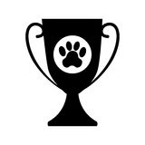 Trophy first place pet isolated icon. Vector illustration design Stock Photography