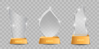 Trophy glass awards vector illustration Royalty Free Stock Photo