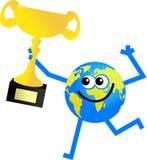 Trophy globe stock illustration