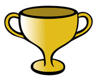 Trophy gold Stock Photos