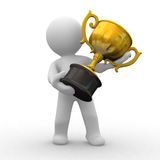 Trophy gold Stock Photography