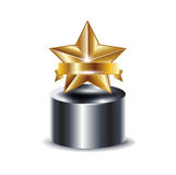 Trophy with golden star Royalty Free Stock Images