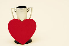 Trophy and Heart Stock Photo
