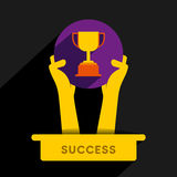 Trophy icon design Royalty Free Stock Photos