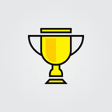 Trophy icon. Illustration isolated on white background for graphic and web design. Stock Photography