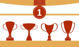 Trophy Icon Set Stock Photography