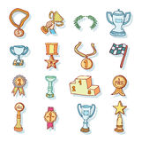 Trophy icon set, vector illustration Stock Image