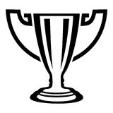 Trophy icon, simple black style. Trophy icon. Simple illustration of trophy vector icon for web Royalty Free Stock Image
