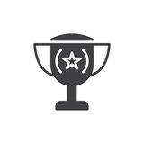 Trophy icon vector, filled flat sign. Solid pictogram isolated on white. Loving cup symbol, logo illustration. Pixel perfect vector graphics Stock Photography