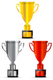 Trophy icons Stock Images