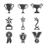 Trophy icons. A vector illustration of a set of trophy icons Royalty Free Stock Images