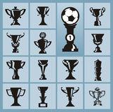 Trophy icons Stock Photo