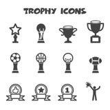 Trophy icons Stock Photos