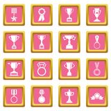Trophy icons pink Royalty Free Stock Image